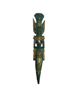 Exotic Wood Mask Rama Shinta Statue