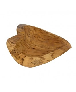 Decorative In Heart Bowl in Natural Teak Wood