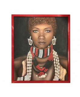 Color Painting Representing an African Women