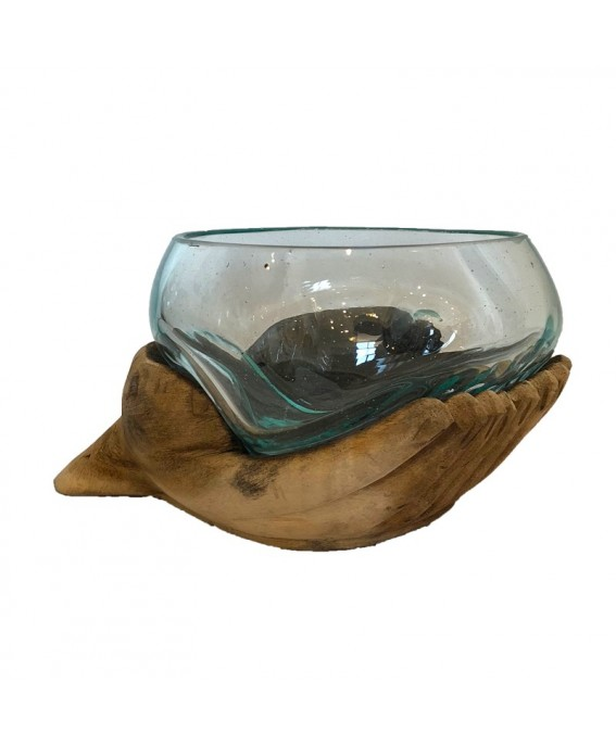 Blown Glass Aquarium and Base Hand Design