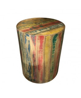 Recycled Pirogue Solid Wood Stool