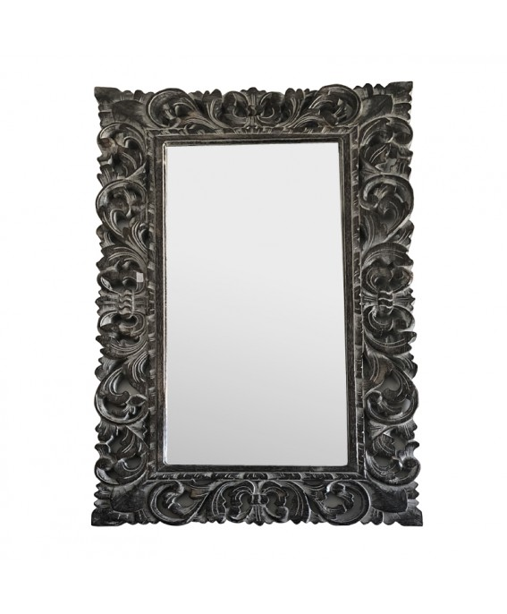 Large Rectangle Mirror Finish Black & White