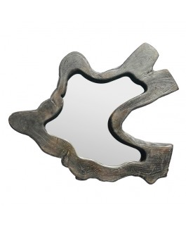 Mirror Wave Teak Small Black Model
