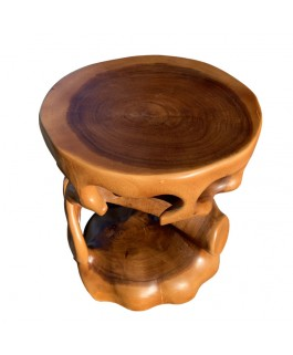Design Brown Teck Wood Root Stool