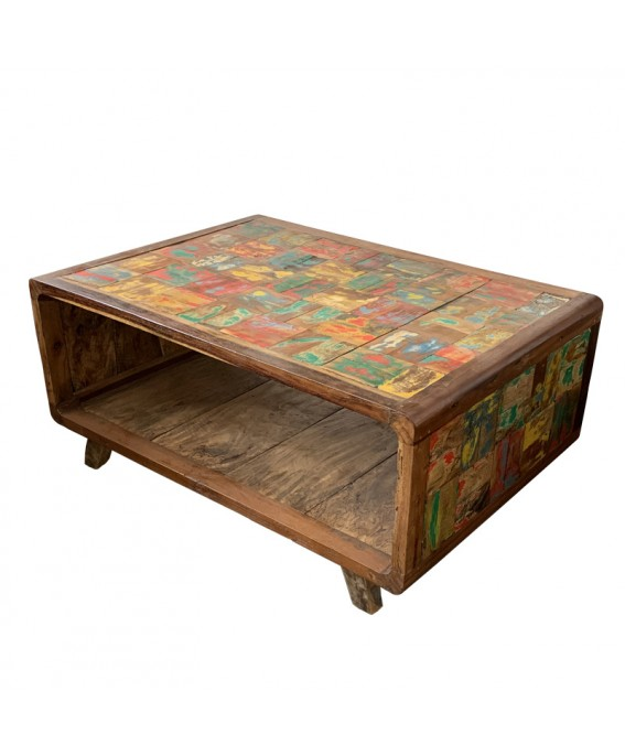 Recycled Pirogue Wood Coffee Table