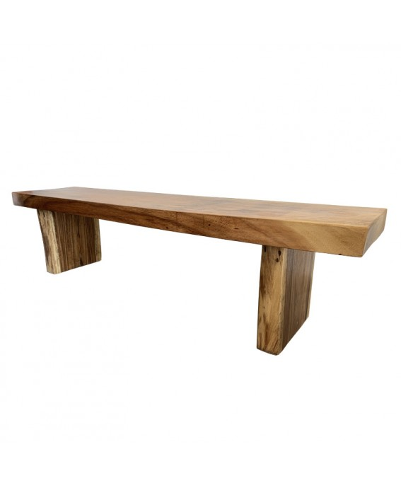 Straigh Bench in Suar Wood Brown Tint