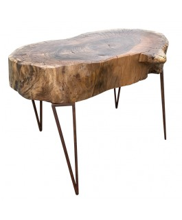 Irregular Coffee Table and Design in Suar Wood