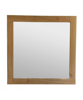 Large Square Mirror in Solid Oak Wood